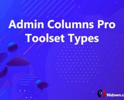 Admin Columns Pro Toolset Types