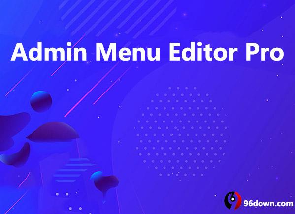Admin Menu Editor Pro