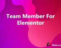Team Member For Elementor